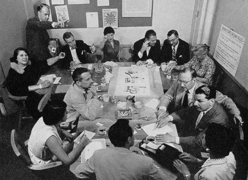 """Les années 50 sont """"l'âge d'or"""" du brainstorming."""