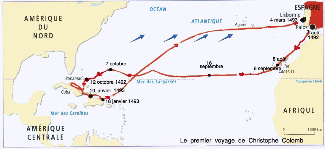 Le premier voyage de Christophe Colomb 1492 - Les cahiers de l ...