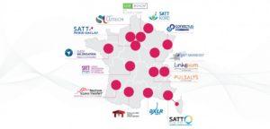 Pôles, SATT et IRT : carte des SATT en France